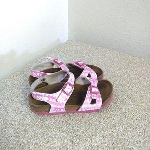 Birkenstocks Rio Hearts Girls Buckle Sandals
